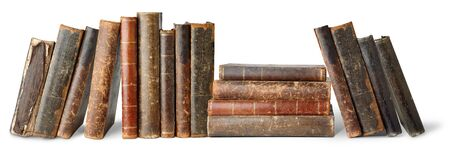 history books: Old books isolated on white