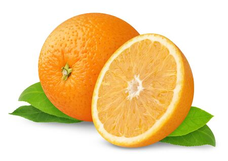 Oranges isolated on white photo