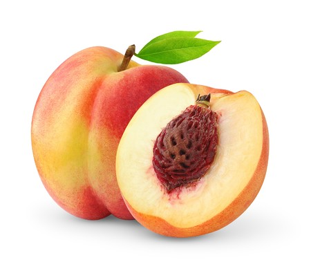 Peaches isolated on white Stock Photo - 7761806