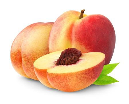 Peaches isolated on white Stock Photo - 7761810