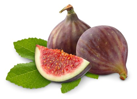 Fresh figs isolated on white photo