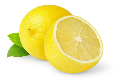 organic lemon: Lemons isolated on white