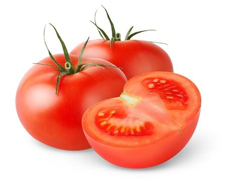 pomodoro: Pomodori isolati on white Archivio Fotografico