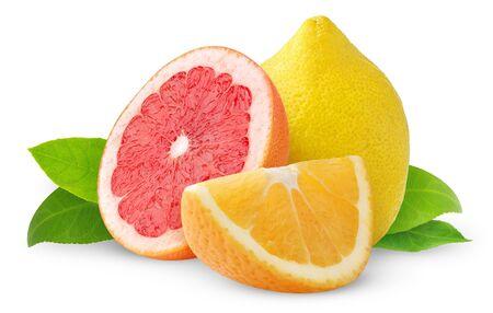Citrus fruits isolated on white Stock Photo - 8475271