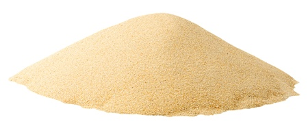 sandy brown: Pile of sand isolated on white