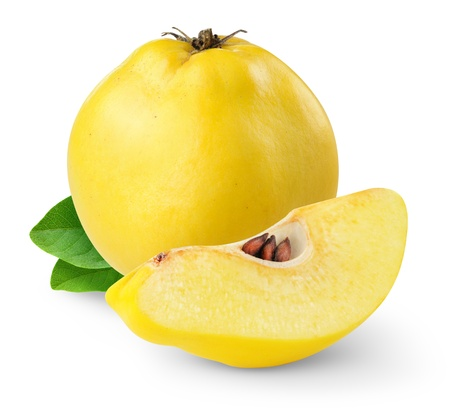 Quince isolated on white