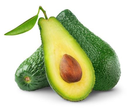 avocado: Avocado isolata on white Archivio Fotografico