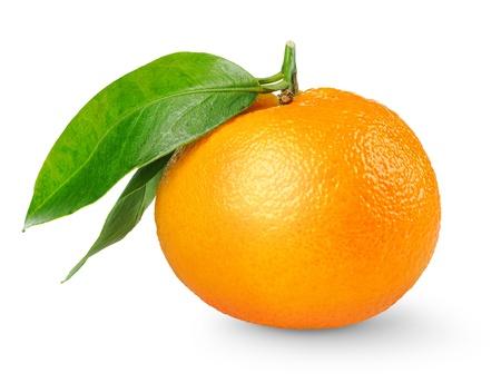 Tangerine isolated on white photo