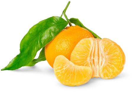 Mandarina aislado en blanco Foto de archivo - 8775450