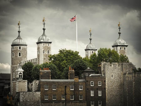 Tower of London, UK, famous medieval castle and prison photo