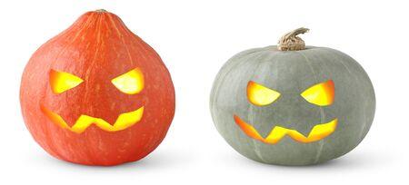 Halloween pumpkins isolated on white Stock Photo - 10616579