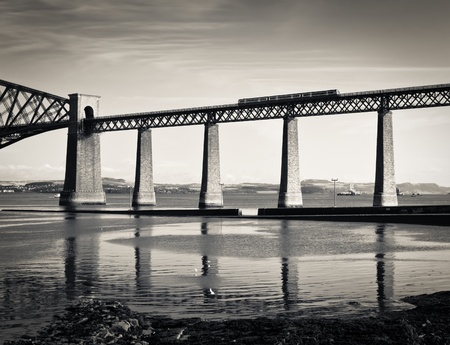 rails: Forth railway bridge over the Firth of Forth near Edinburgh, Scotland