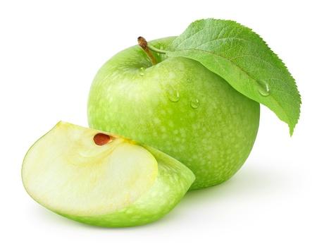 manzana verde: Manzana verde aislado en blanco