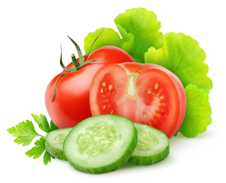 vegetable: Fresh vegetables isolated on white