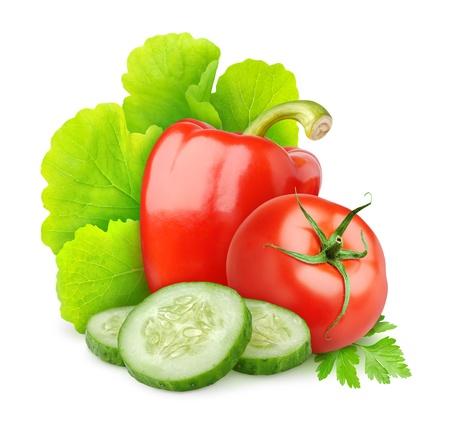新鮮な野菜を白で隔離されます。
