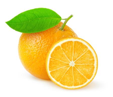 オレンジ白で隔離
