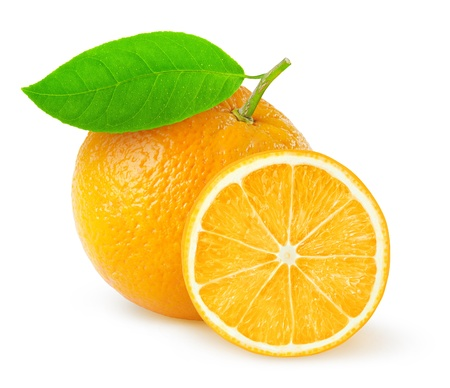 Oranges isolated on white 版權商用圖片