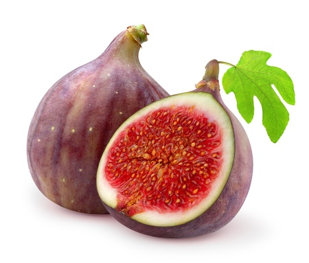 Fresh figs isolated on white Stock Photo