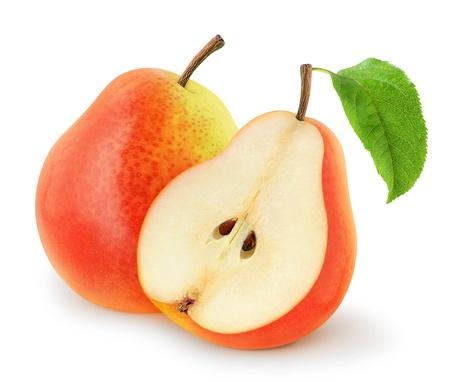 新鮮な梨を白で隔離されます。 写真素材