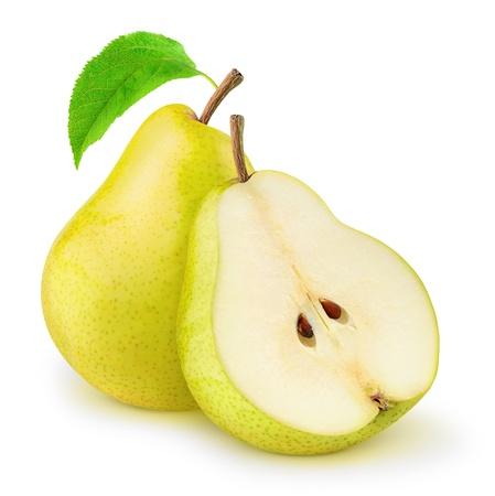 新鮮な黄梨白で隔離