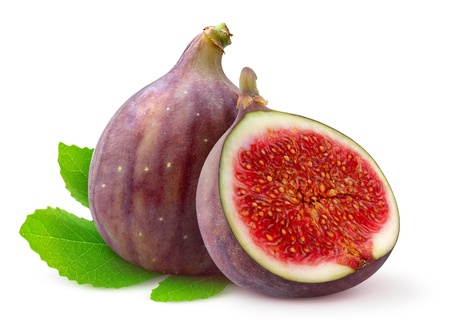 Fresh figs isolated on white 版權商用圖片