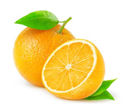오렌지 흰색으로 격리 스톡 콘텐츠