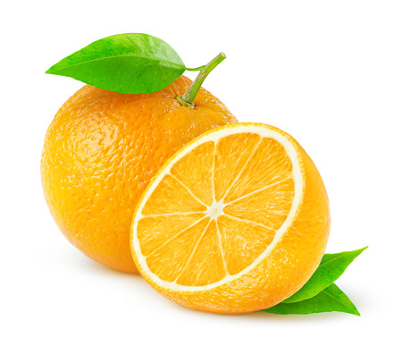 Oranges isolated on white 版權商用圖片 - 23209986