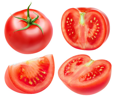 Tomatoes isolated on white 写真素材