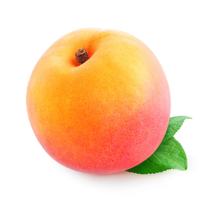 Fresh peach isolated on white Imagens - 28157106