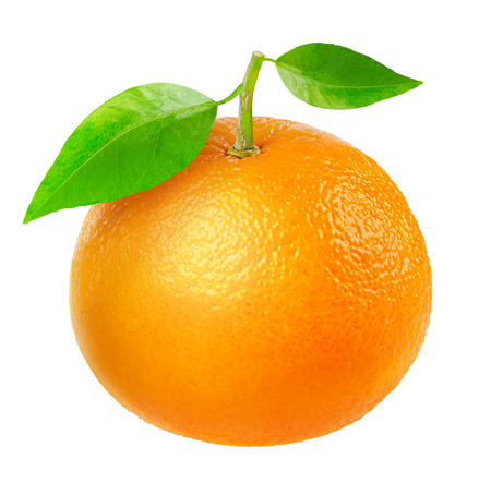 Tangerine isolato su bianco