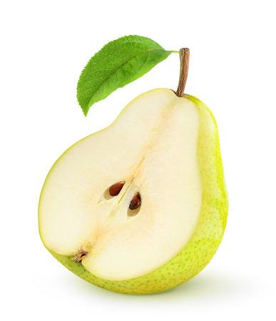 pera: Peras frescas aisladas en blanco Foto de archivo