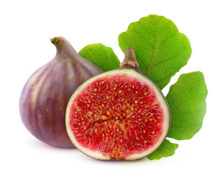 Fresh figs isolated on white Archivio Fotografico