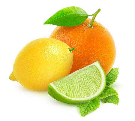 白で隔離される柑橘系の果物 写真素材 - 36661414