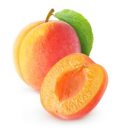 Fresh apricot isolated on white