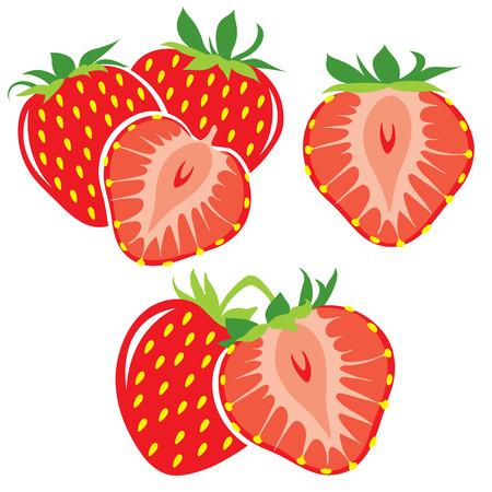 딸기 모음 일러스트