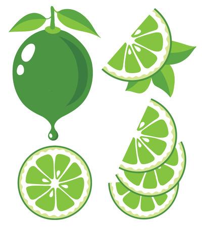 Het verzamelen van limoenen illustraties