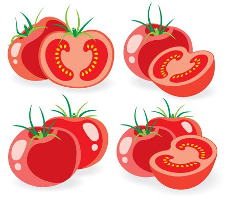simple cross section: Collection of fresh tomatoes