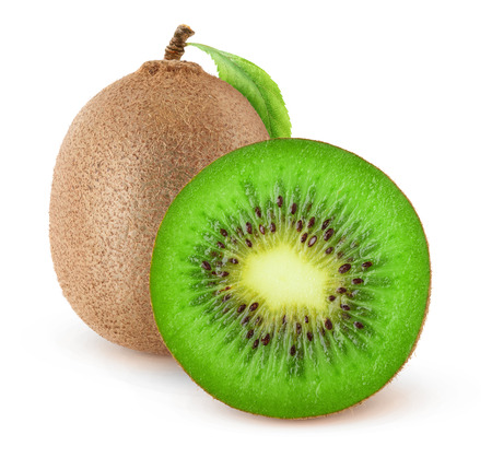 Isolated kiwi fruits. Cut kiwi isolated on white background