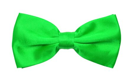 Green Tuxedo Bowtie Isolated on a White Background.