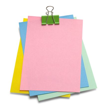 Messy Notes with Copy Space Isolated on a White Background.