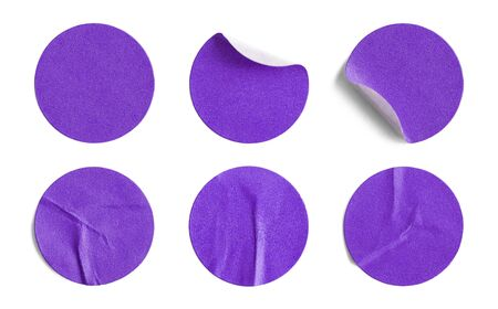 pricetag: Blank Circle Retail Tags Isolated on a White Background.