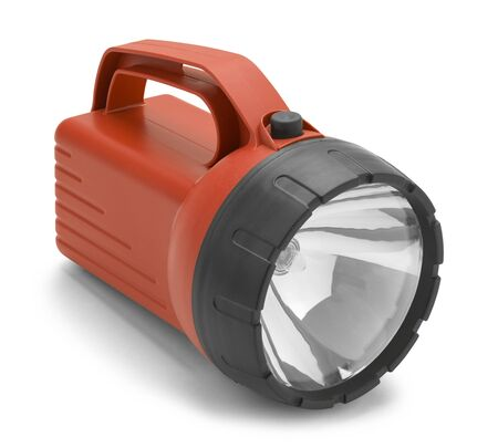 Heavy Duty Flash Light Isolated on a White Background.