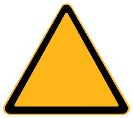Blank Warning Sign Isolated on White Background. Stock Photo
