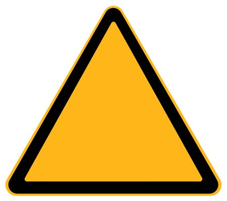 Blank Warning Sign Isolated on White Background.