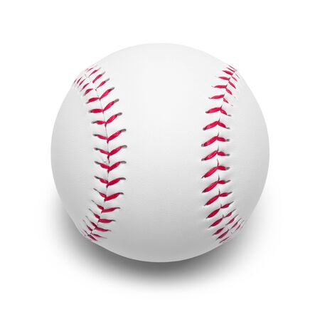 New Baseball Isolated on a White Background.