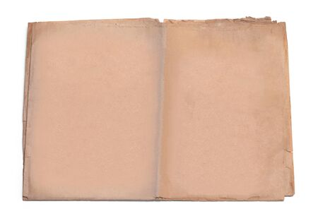 コピーの白い背景で隔離の領域と古新聞。