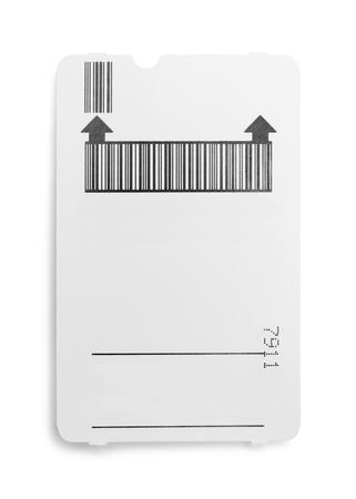 Parking Garage Payment Ticket Isolated on White Background.