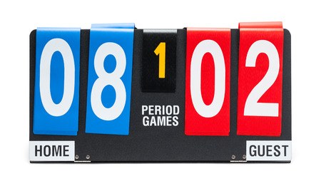 Small Sports Score Board Isolated on a White Background. 写真素材