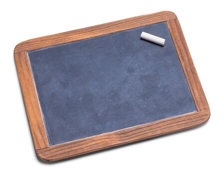 School Slate Chalk Board With Chalk  Isolated on a White Background.