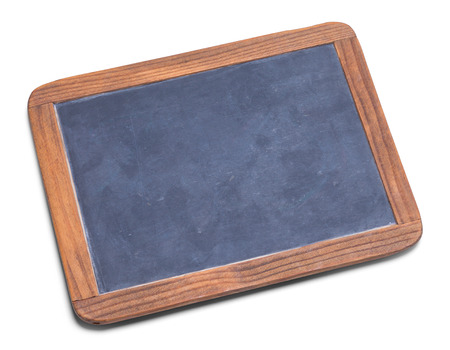 School Slate Chalk Board Isolated on a White Background. 写真素材